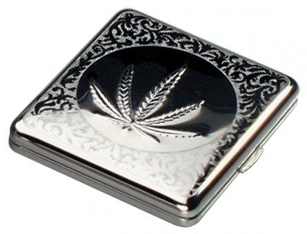 Zigarettenetui Cannabisblatt