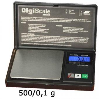 DigiScale Micron 500 wiegt 500g/0.1g