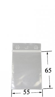 Druckverschlussbeutel - 5.5 mal 6,5 cm VE100 50 µ