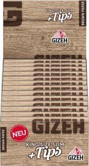 Gizeh King Size Slim BROWN + Tips VE26