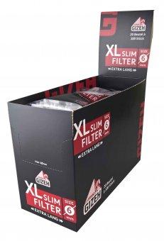 GIZEH Black XL Slim Filter, VE20 á 100 Stück, 6 mm Ø