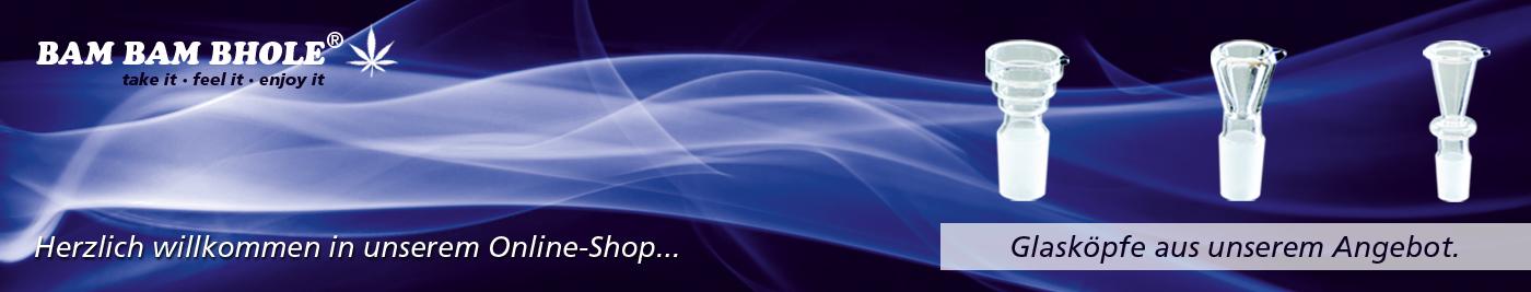 Banner Glasköpfe